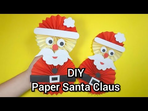 Origami Santa Claus | How to make Paper Santa Claus Step by Step Instructions Easy DIY Crafts