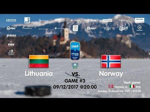 Lithuania - Norway #IIHFWJC1B #Bled