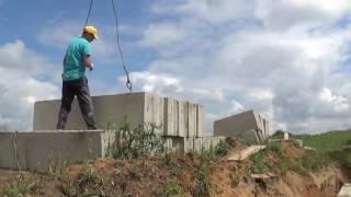 Строительство Дома с цокольным этажом. Как правильно монтировать ФБС блоки.(Строительство домов в Ростове на Дону ООО