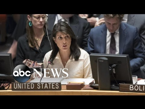 Haley leaves as Palestinian ambassador begins to speak at the UN