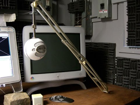 Professional Microphone Stand For The Blue Snowball Youtube