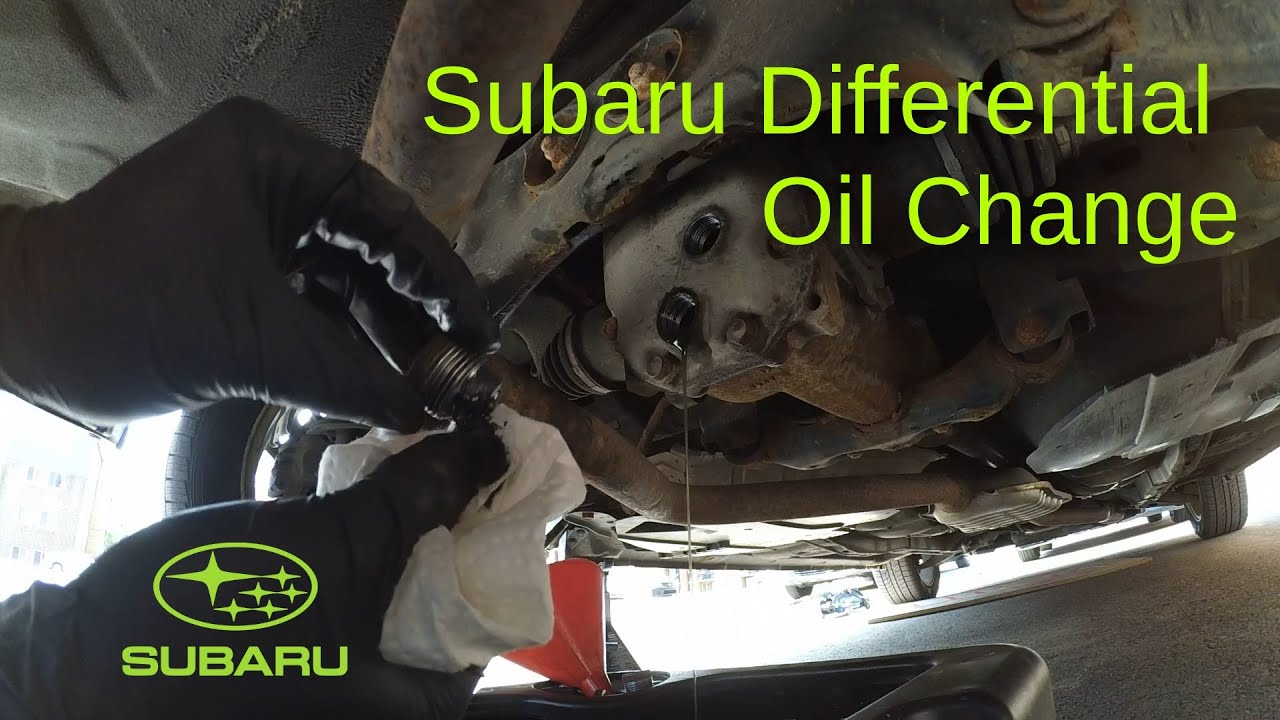 Subaru rear differential oil change