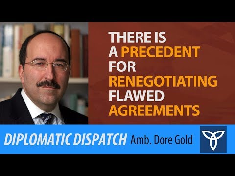 There Is a Precedent for Renegotiating Flawed Agreements