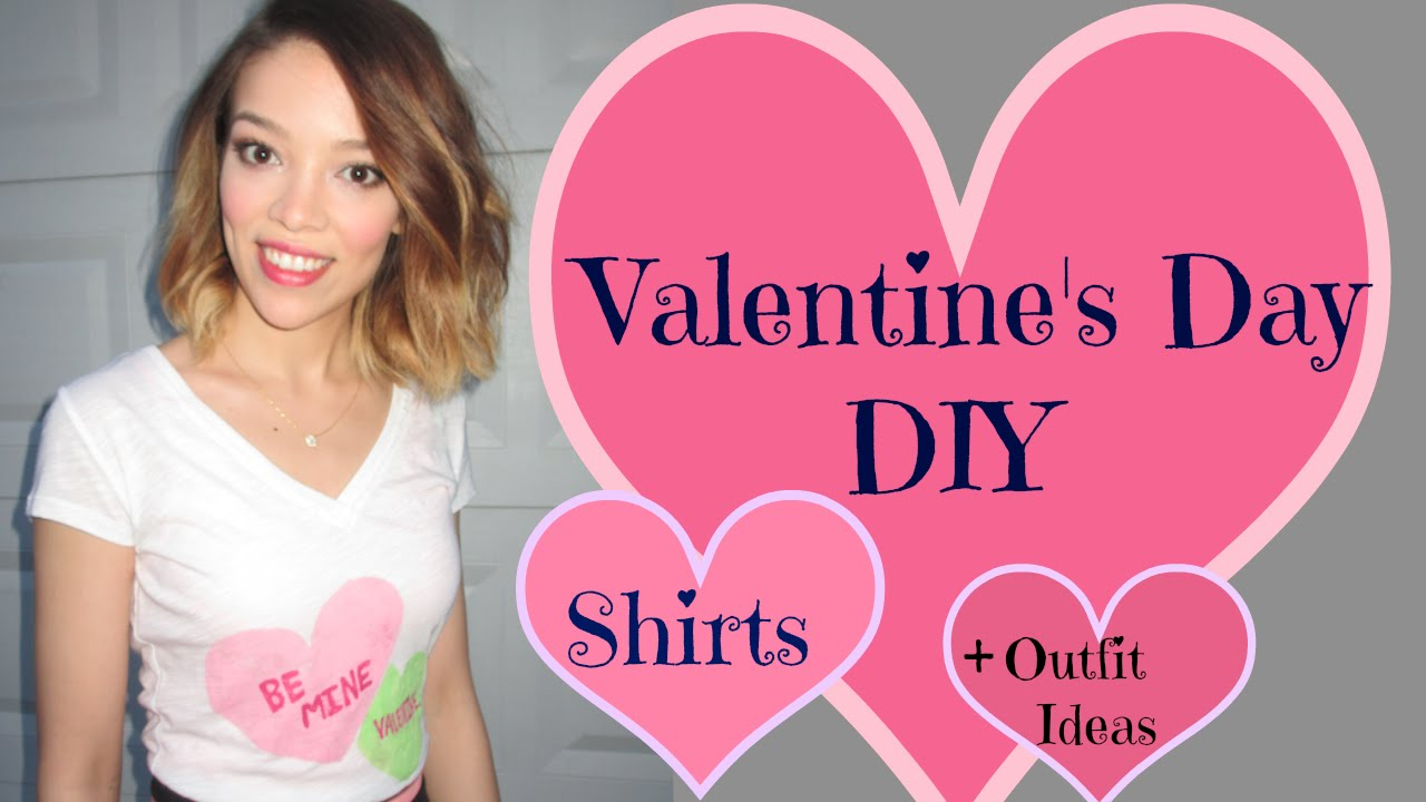 Valentines Day Diy Shirts Outfit Ideas Youtube