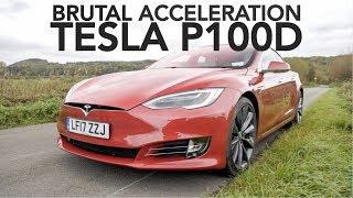Tesla Model S P100D. Brutal Acceleration!
