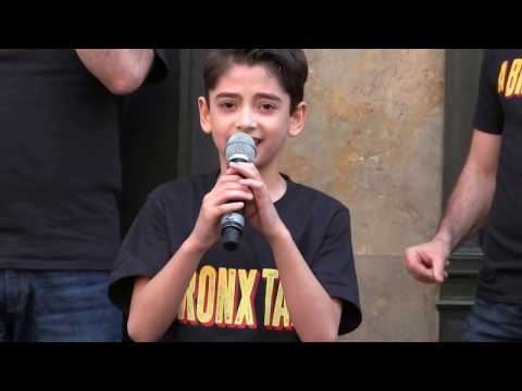 """Athan Sporek (A Bronx Tale) performs """" I Like It"""" at SAKS 5th Ave Easter Parade 2017"""