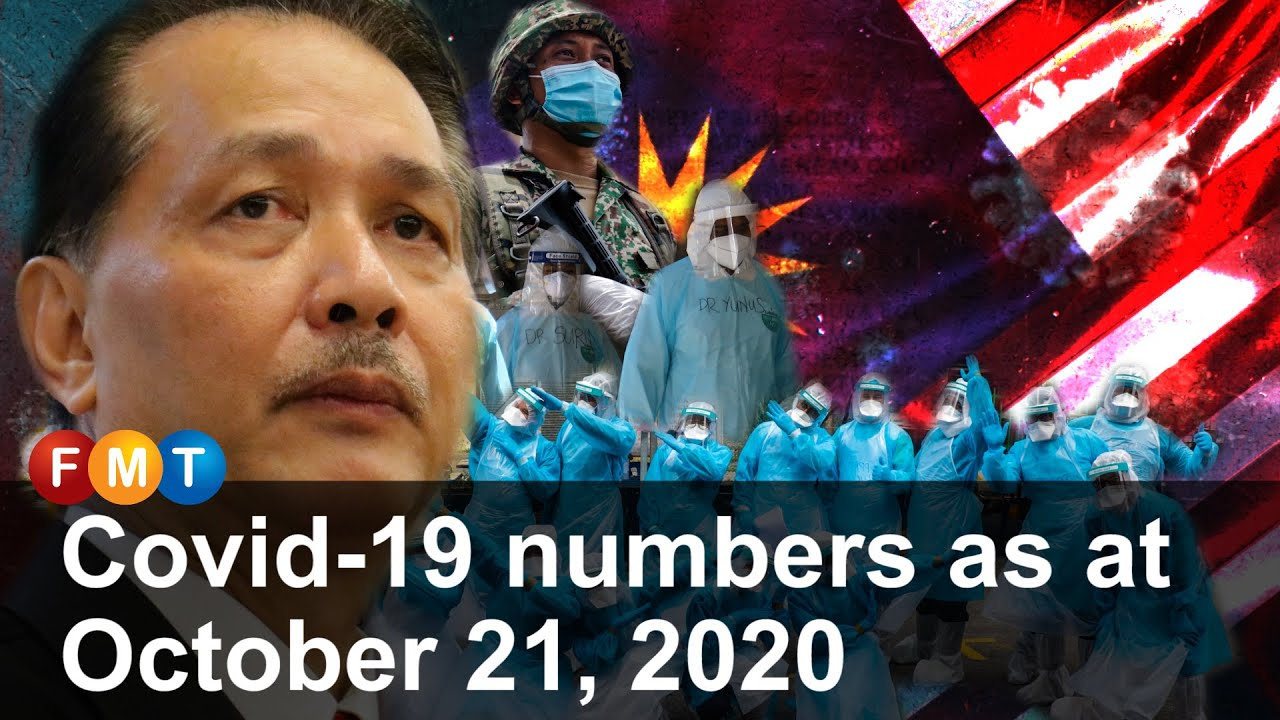 Covid 19 numbers as at October 21, 2020