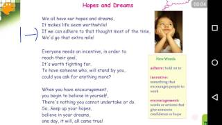 samacheer kalvi english std 6 term 1 hopes and dreams poem