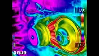 RZR1000 Axis Dyno Pull - FLIR Thermal Imaging on Clutch for Belt Temperature