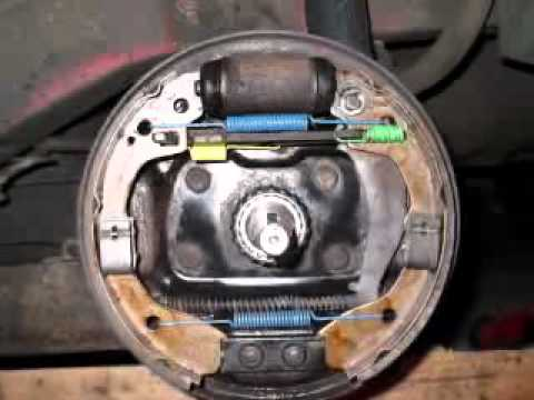 01 To 02 Kia Rio Rear Drum Brake Spring And Pad Placement Youtube