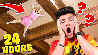 I Hid in PRESTONPLAYZ House for 24 Hours... - Challenge Video