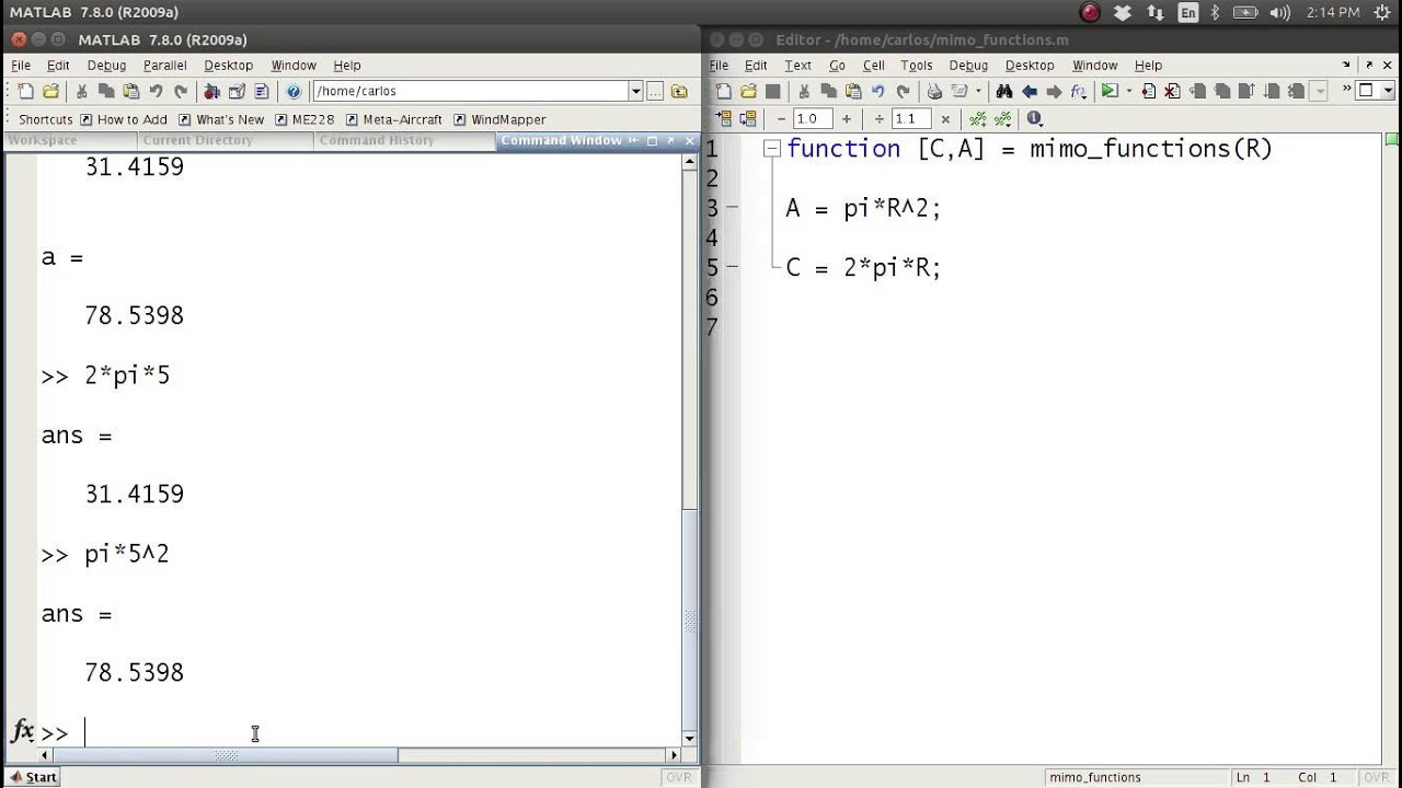 MATLAB Help - MIMO Functions