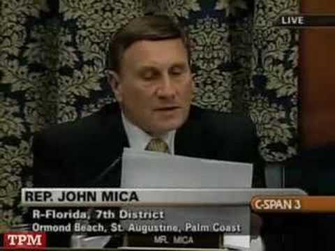 Mica Implies Clinton Administration As Corrupt As Maliki