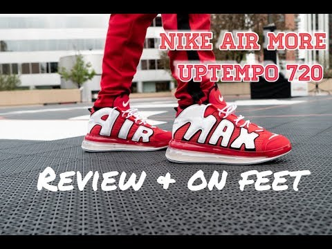 Nike Air More Uptempo 720 Red Review & On Feet!