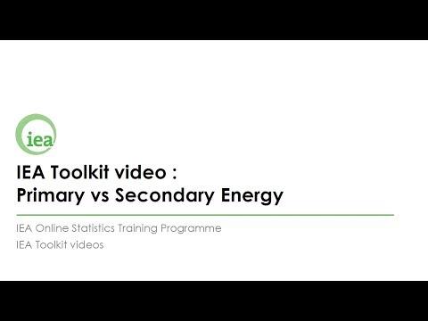 IEA Toolkit: Primary vs. Secondary Energy