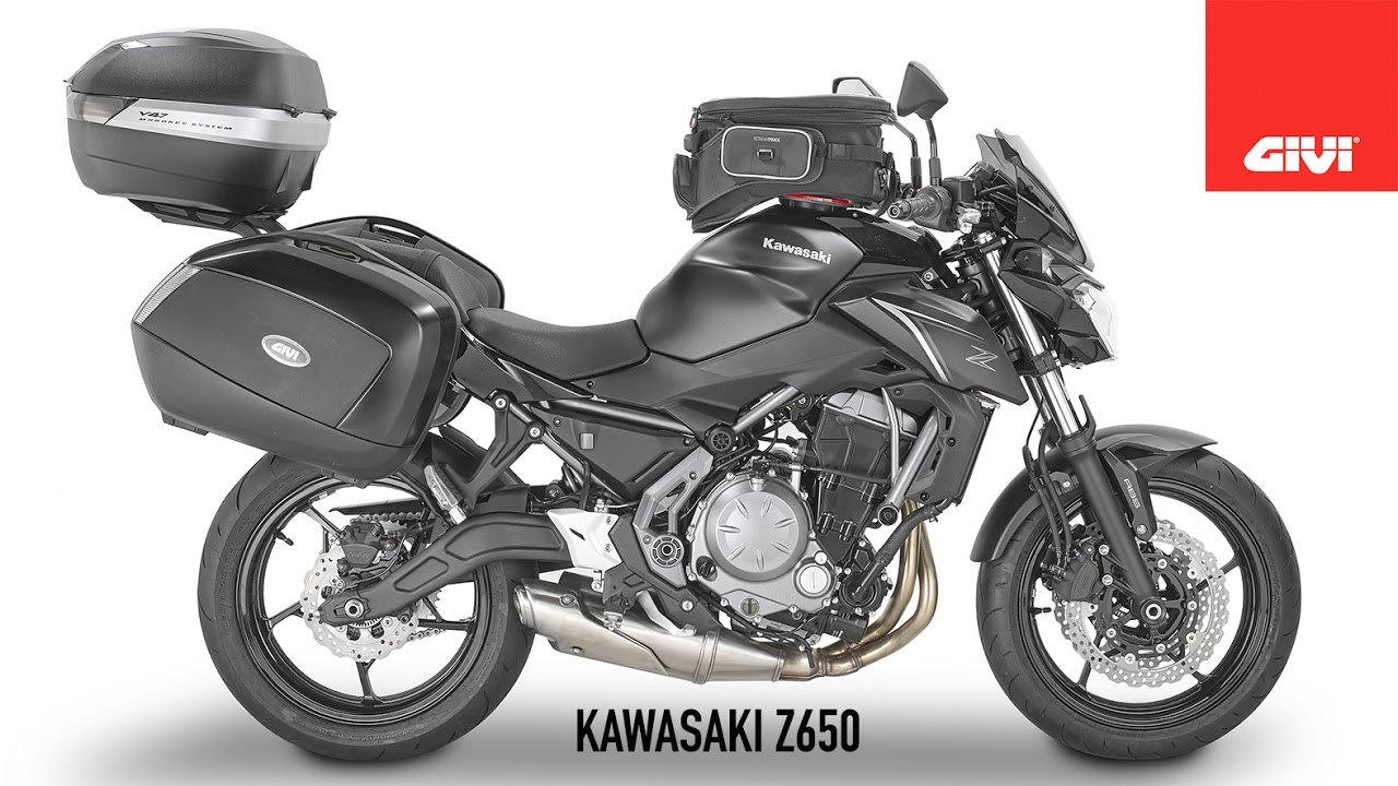 kawasaki z650 by givi youtube. Black Bedroom Furniture Sets. Home Design Ideas
