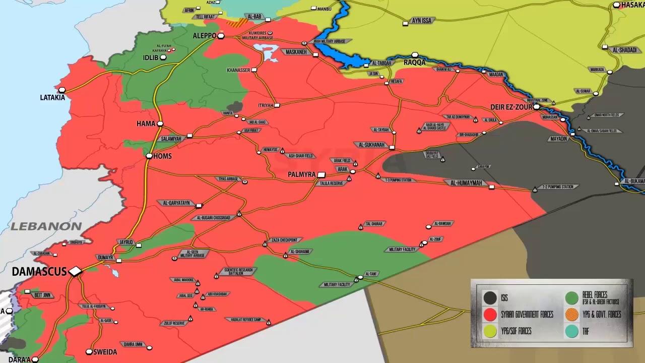 Guerra De Siria Mapa.Siria Mapa Guerra Mapa