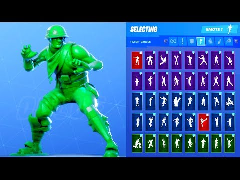 Fortnite Plastic Patroller Green Outfit Showcase With All Dances & Emotes