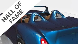 Modeling a roadster concept car in Fusion 360