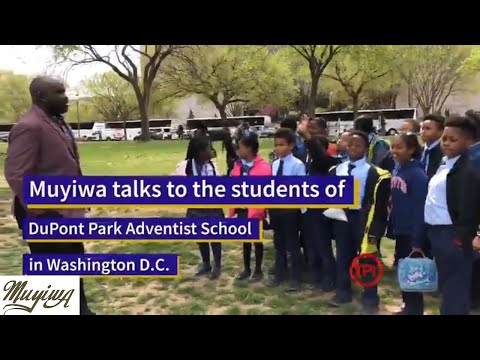 Muyiwa Talks To Pupils From DuPont Park Adventist School in Washington DC