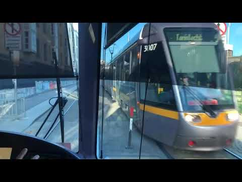 Ride on Luas Red Line Tram number 3009 from Dublin Heuston to Abbey Street (8/5/18)