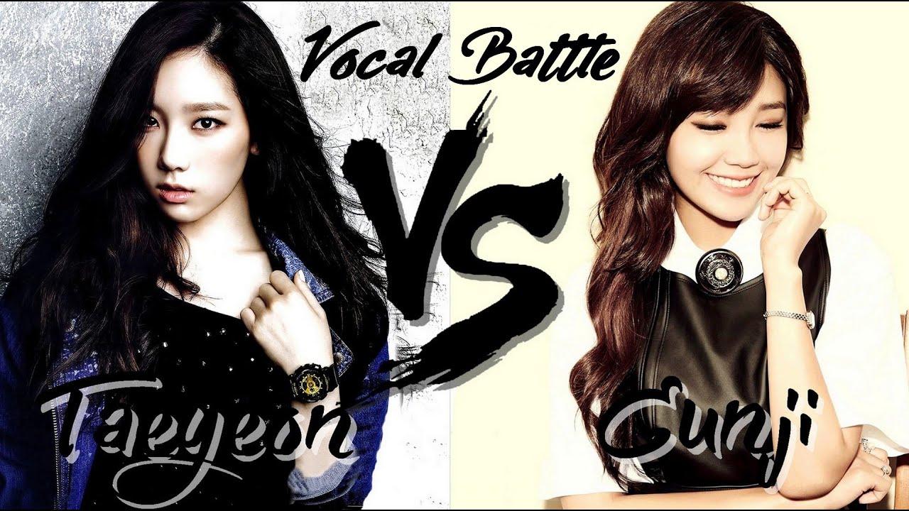 Taeyeon (SNSD) VS Eunji (Apink) - Vocal Battle (C5 - G5 ...Eunji And Baekhyun