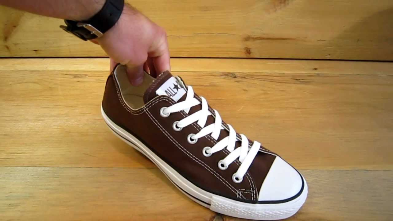 5b4a5ab3c45 Converse All Stars Chuck Taylor Ox Chocolate - YouTube