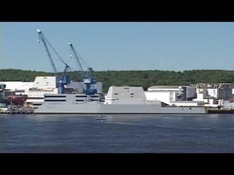 12 arrested at stealth destroyer christening in Maine