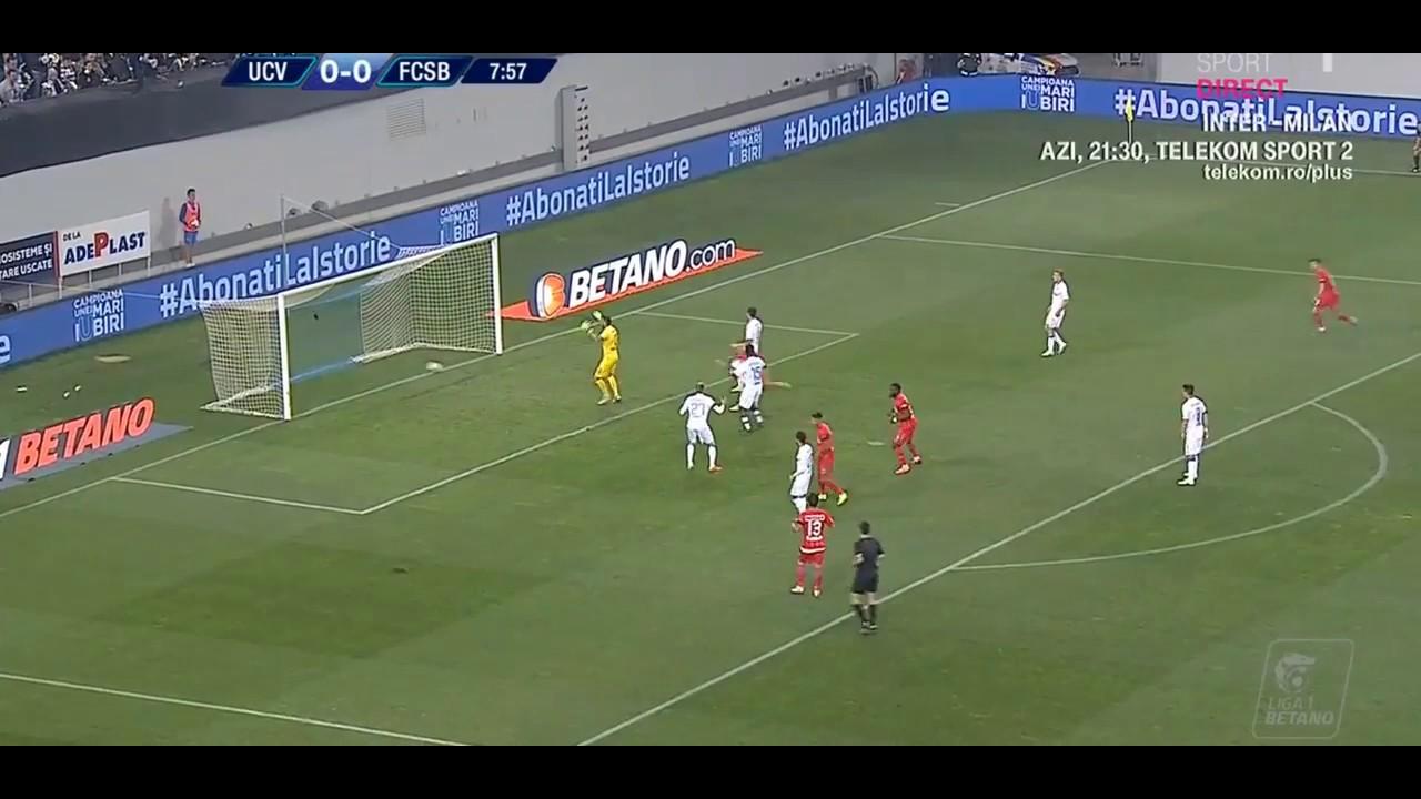 U Craiova - FCSB: 0-2, gol Denis Man (90+5) / Etapa 8 Play ...   Craiova Fcsb