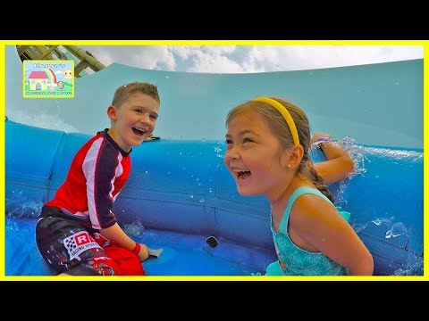 BLIZZARD BEACH WATERPARK HUGE SLIDE FAMILY FUN VACATION Hailey's 5th Birthday Party Surprise Present