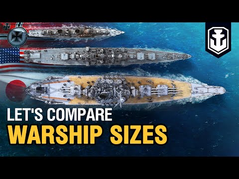 Dry Dock. Warships Sizes Comparison