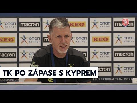 ČR A   Tisková konference po výhře nad Kyprem