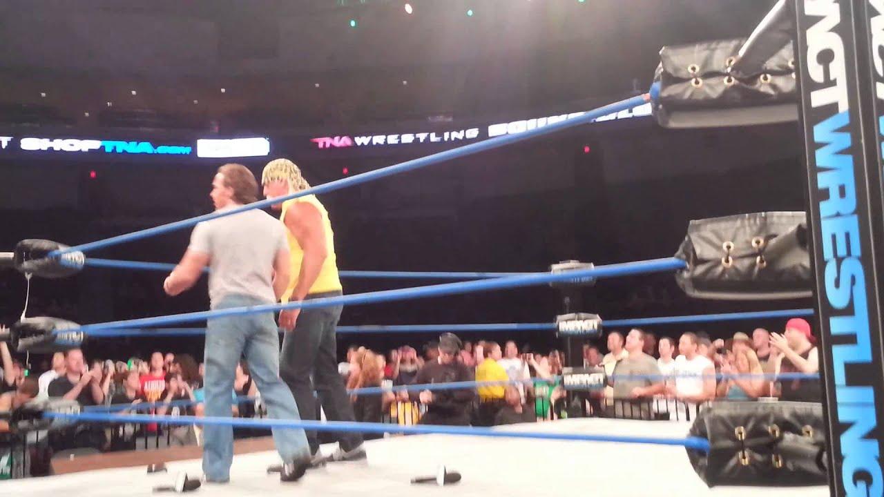 Hulk Hogan kicks Bully Ray's ass on TNA Impact in Vegas June 29th, 2013 -
