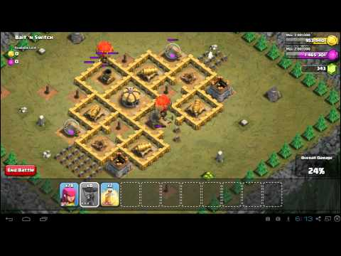 Clash of Clans Bait 'n Switch 3 Star Campaign Guide - TH6