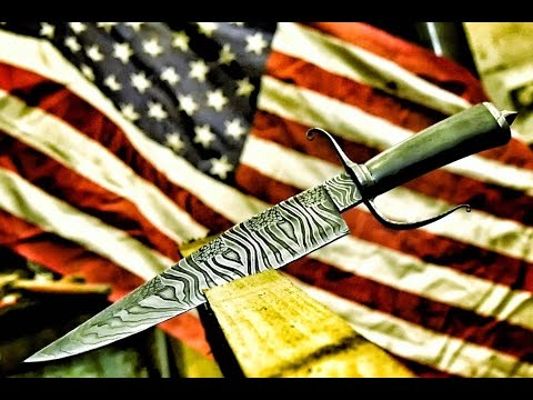 MAKING THE AMERICAN FLAG BOWIE KNIFE!!! 🇺🇸