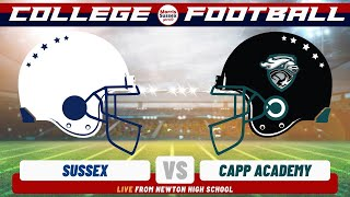 College Football:  Sussex vs CAPP Academy