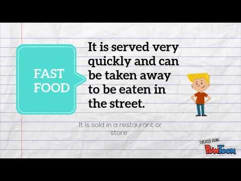 Fast food,junk food and healthy food