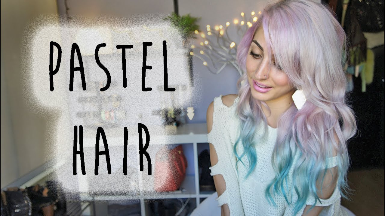 Pastel Pink Dip Dyed Teal Hair Brittany Balyn YouTube