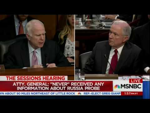 McCain destroys Sessions' rationale for meeting with the Russian ambassador