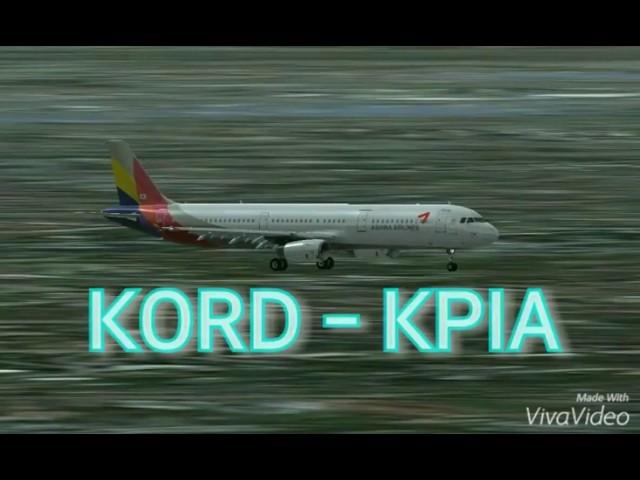 KORD -KPIA 비행일지