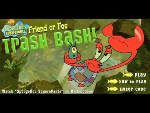 SpongeBob Friend Or Foe Trash Bash - Full Game