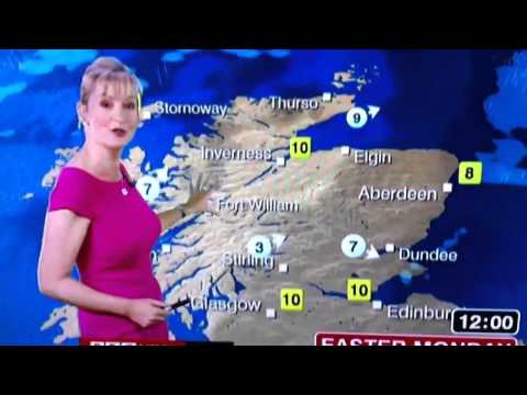 BBC weather girl Carol talking street