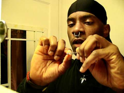 Eyebrow Captive Bead Spike Piercing Tutorial - YouTube