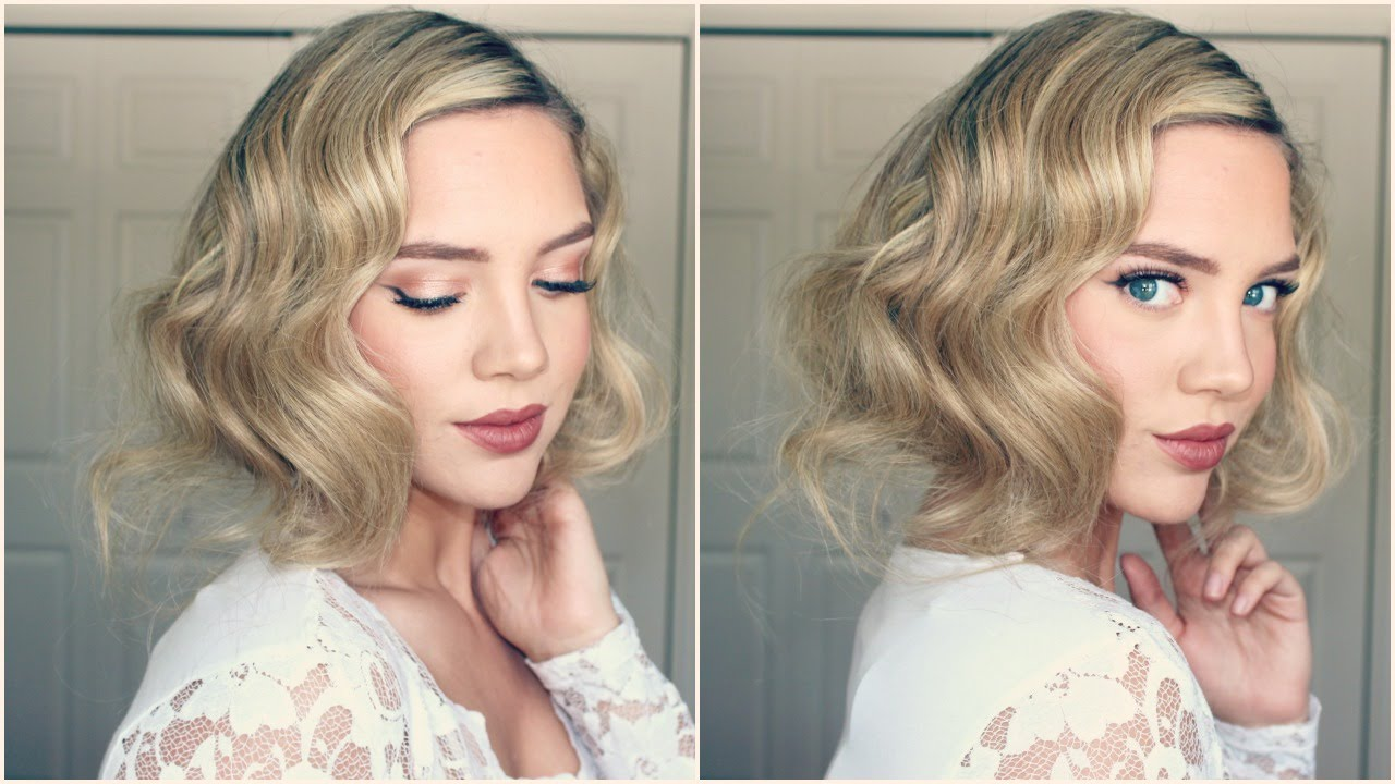 Great Gatsby Faux Bob 1920s Inspired Hair Youtube