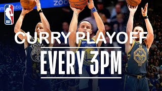 Stephen Curry - All 470 Playoff Three-Pointers (2013-2019)