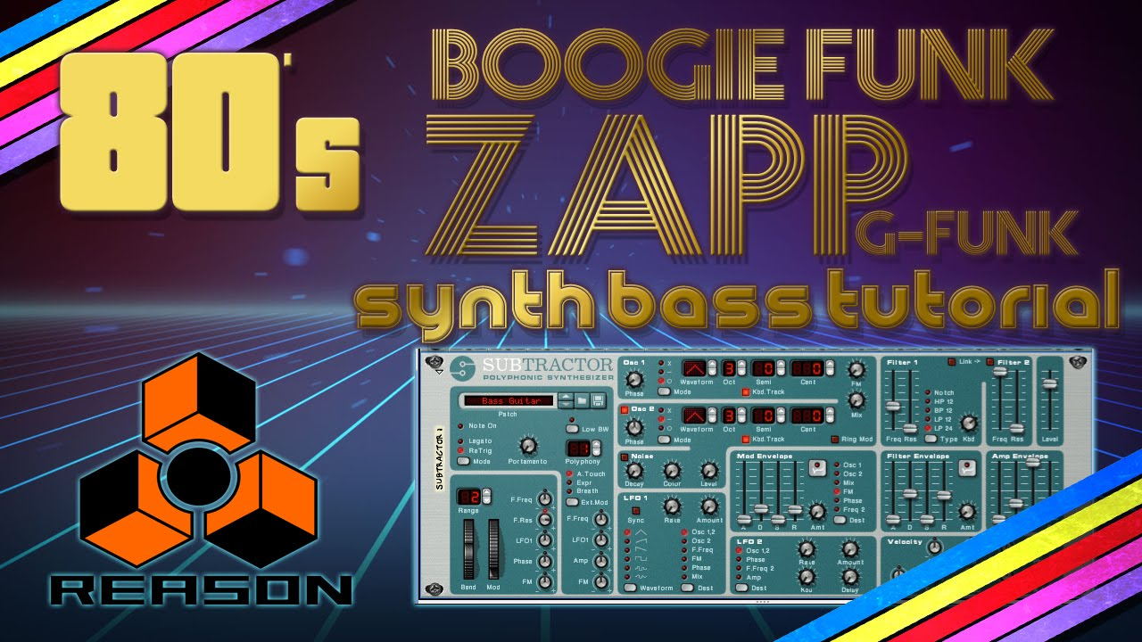 80's Synth bass tutorial - (Boogie Funk / G-Funk / Zapp & Roger