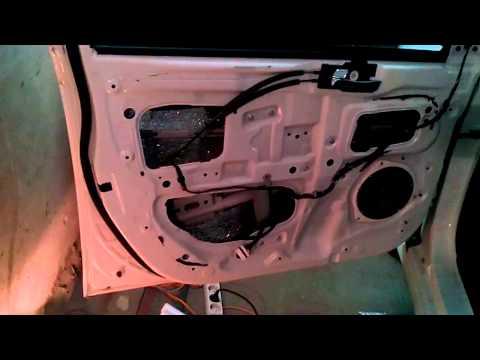 Шумо вибро изоляция дверей установка новых динамиков Hyundai Solaris 2013