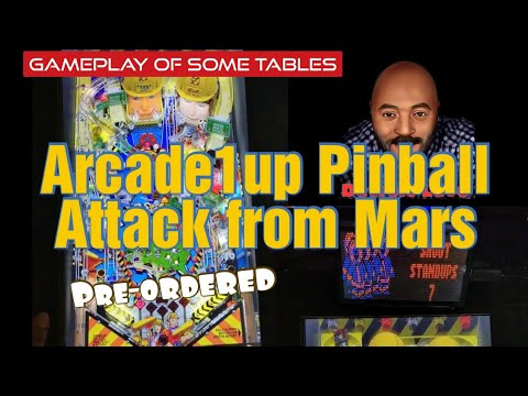 Arcade1up Attack from Mars Pinball Cabinet Pre-ordered and VPX Gameplay of tables on it. from Detroit Love