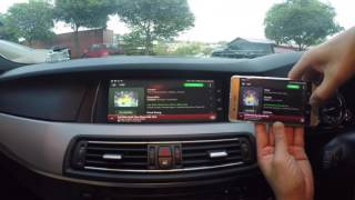 BMW 5 Series (F10) - Wireless Mirror link (iOS/Android)