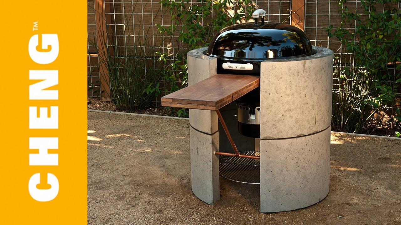 Make A Concrete Barbecue Surround With Cheng Outdoor
